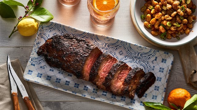 Teaser image for Santa Maria Wagyu tri-tip with blistered butter beans