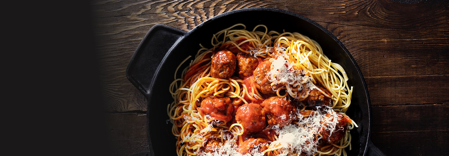 Hero image for First Light venison meatballs, spaghetti & tomato sauce